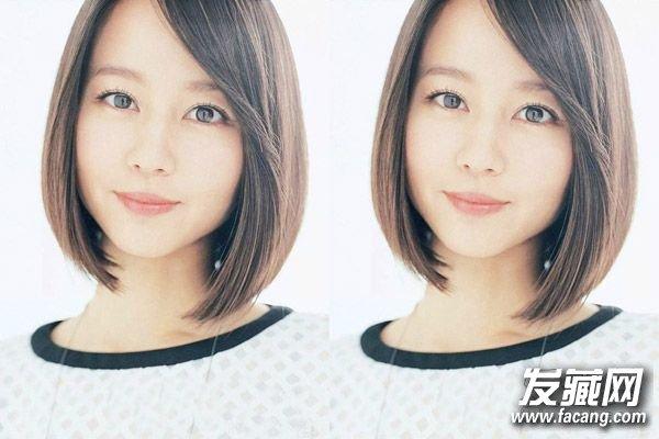 韩式瘦脸中短发发型       这款韩式瘦脸中 短发发型很适合圆脸女生图片