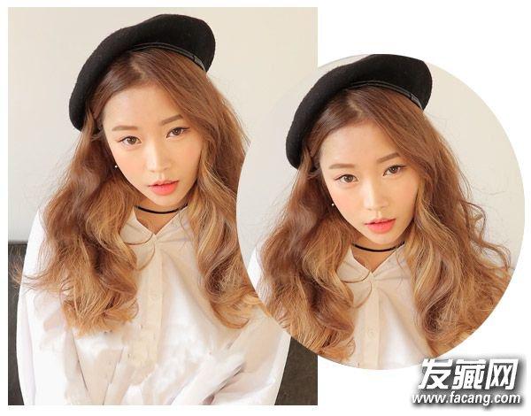 韩式中长发烫发四   如果你喜欢这种可爱的风格,气质的偏分中长发烫发在芭比烫发的处理下显露出自然唯美的一面来,侧边的帽子点缀上自然的一面来,十分有范。    韩式中长发烫发五   桃心脸与中长发烫发显得颇为自然,如果你也喜欢不妨来一款尝试一下吧,不过小编觉得换一款发型会比较好,如果你的皮肤不够白的话。