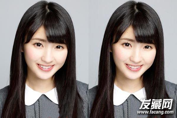 圆脸女生直发发型 校花范清纯减龄(3)图片