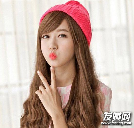 女生圆脸什么发型好看 甜美的长发梨花头发型图片