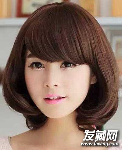 学生短发发型图片 内扣发型乖巧又伶俐