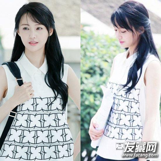 《小时代》中的斜刘海发型 女神学生装发型(2)图片