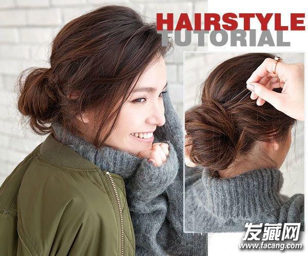 发型网 流行发型 花苞头发型 > 韩式扎发花苞头 鱼骨辫pk韩式花吧花苞