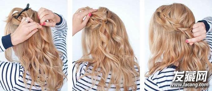 辫子发型扎法(7)
