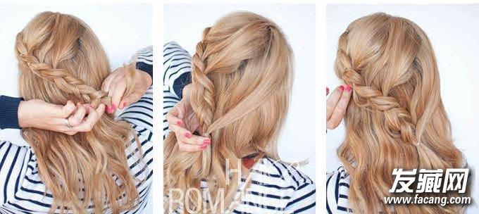 这些编织发型就可以轻松胜任 辫子发型扎法(7)图片