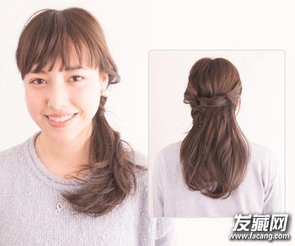 齐刘海发型怎么扎好看 懒人必备侧编发教程(5)