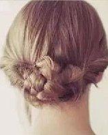 鱼骨辫盘发&打结盘发 长发适合的简单盘发