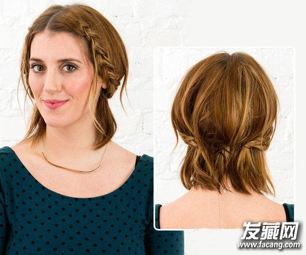 简单的刘海编发发型 学会它短发也能美过长发(2)  导读:step 3 当编织图片