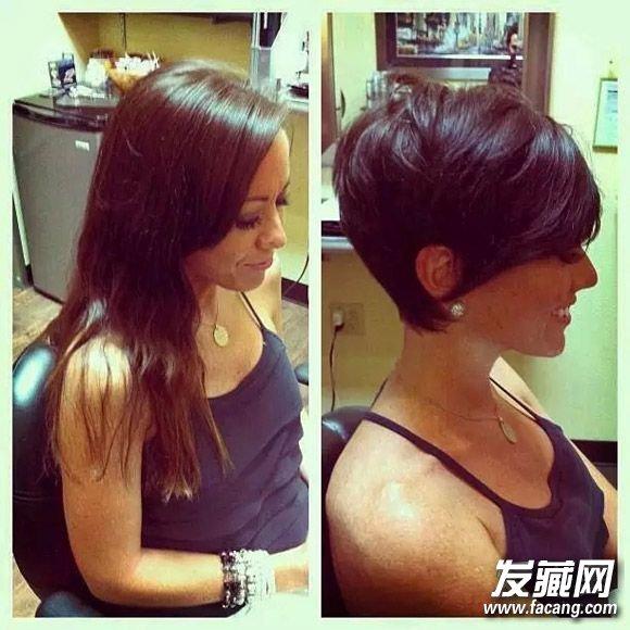 剪个女生变帅了!短发短发图片的短发欧美苗圃最爱视频图片
