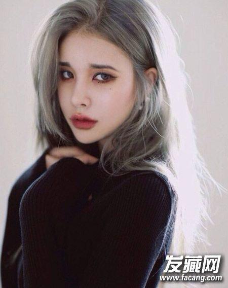 韩国白发qq头像