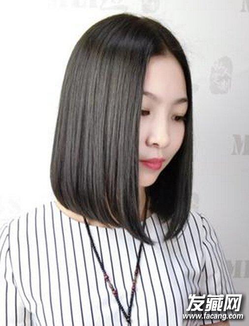 bobo发型 > 长款vs短款直发波波头图片  女神妹子都喜欢的中分 刘海图片