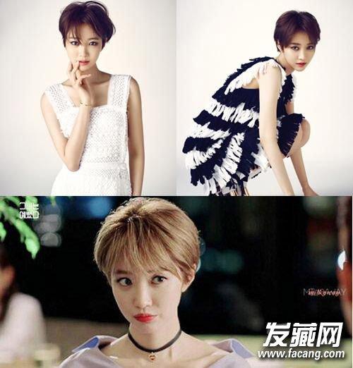 →朴信惠刘海发型设计