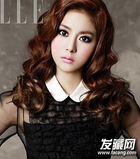 发型点评:俏皮又不失小可爱的韩国水波纹烫发