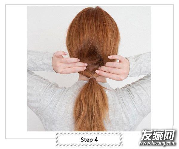 夏天盘头发凉快步骤图