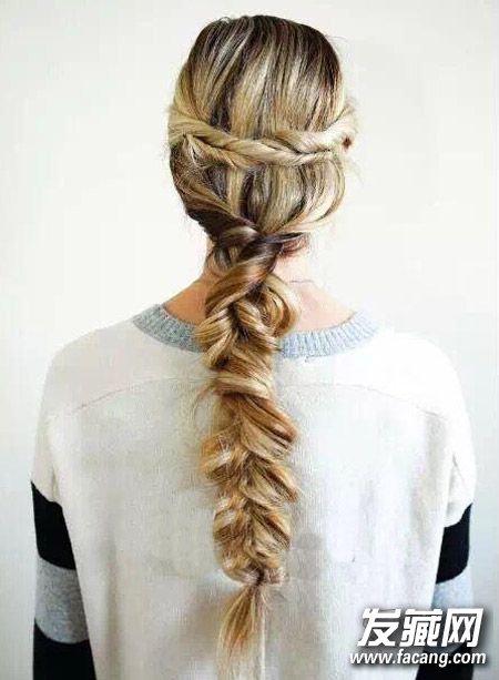 扭转束发&韩式鱼骨辫 2款编发教程专为头发多mm准备 头发多怎么扎好看图片