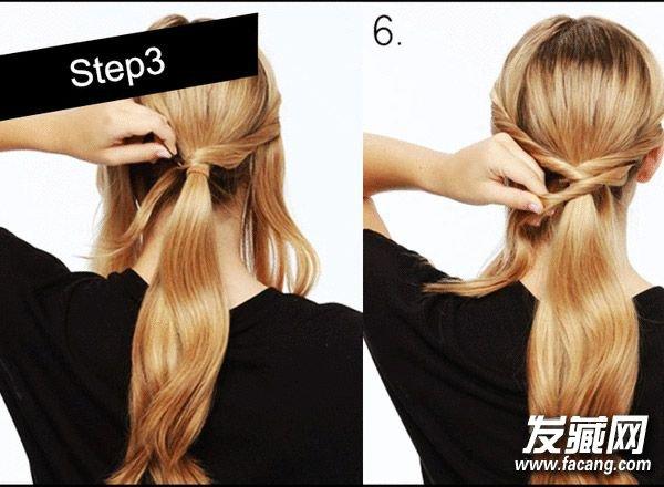 7款超简单扎发教程 扎头发简单的方法(2)