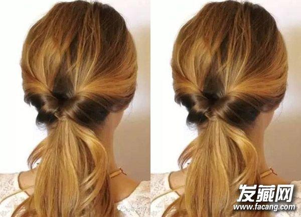 简单马尾扎发发型 夏季时尚马尾图片