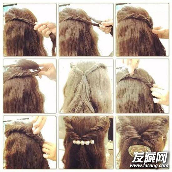 发型diy 编发教程 > 日本妹子最爱的旋转式编发 扎头发的简单方法(4)图片