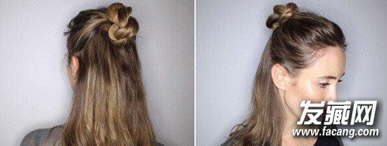丸子头的扎法图解 丸子头变得甜美可爱 →时髦丸子头 长发妹子快来图片