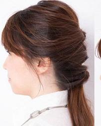 马尾扎一半也很好看 ol速成发型打理方法