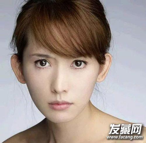菱形脸 参考:林志玲 菱形脸亦称杏仁型脸,相对其他脸型比较立体,额头图片
