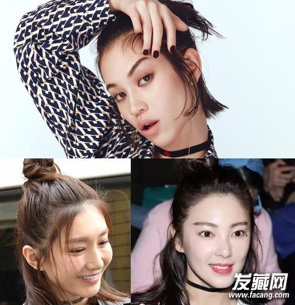 """流行""""发丝掉队""""发型 梳对秒变心形脸!(7)图片"""