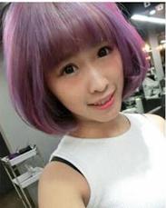 棉花糖雾紫灰发色MIX少女粉发色 你敢试试吗?