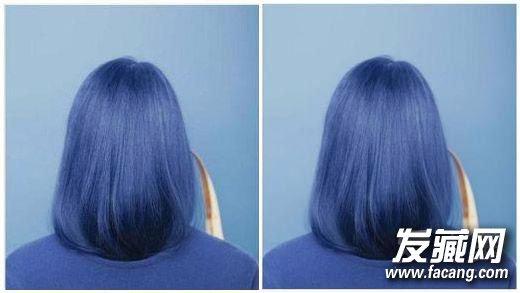 打蜡闷青色图片_染发蓝色效果图-黑蓝色头发效果图-真人蓝黑色头发效果图-深蓝 ...