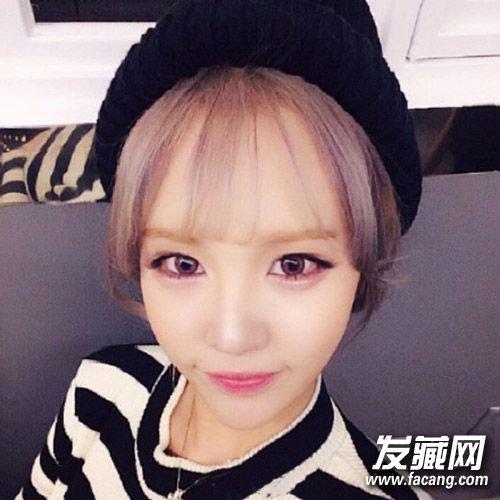 春季女生空气刘海发型图片 秒变小清新!图片