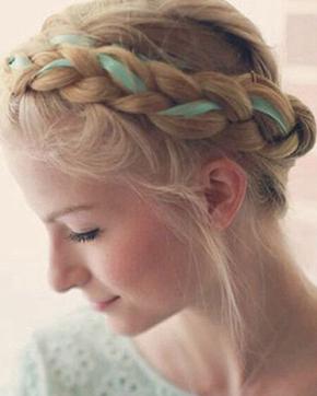 浪漫的编发技巧 染过的头发和什么编发搭配才最美?