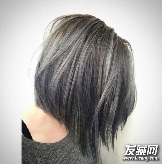 染发颜色 > 深灰色紫色发色 时髦mm必备的冷色系发色(2)  导读:浅灰