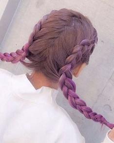 渐层发绑辫子发型 因为扎起来真的太美了!