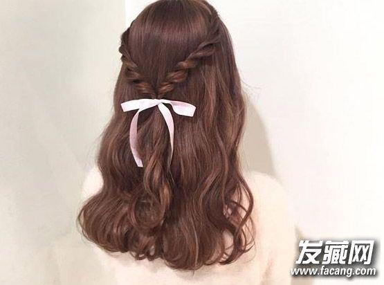 【图】萌萌的丝带编发简直超级可爱