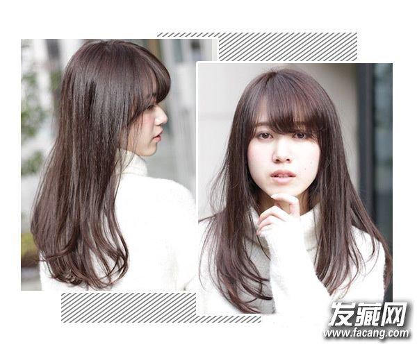 这个春天 齐刘海与直发发型更配哦 齐刘海直发发型图片图片