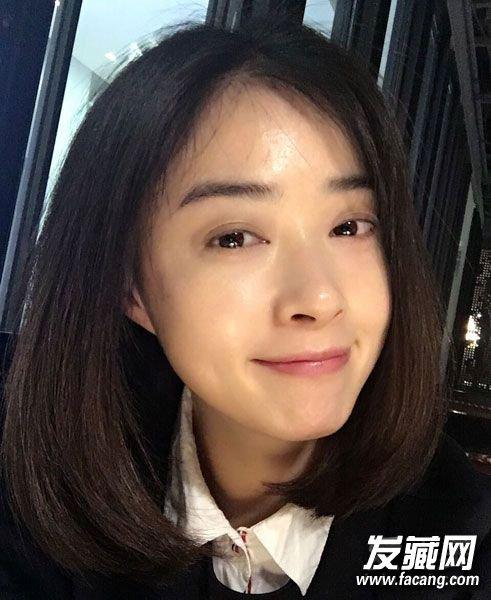 蒋欣娜扎示范 当下最时髦发型当属爱心波波头 明星波波头图片