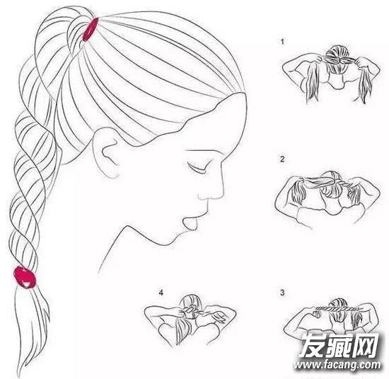 5种编发方法图解 编辫子发型怎么扎