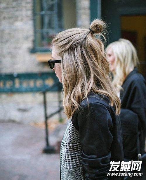 【图】半纹身头扎起来更是很简单!半女生头扎背丸子头像丸子图片
