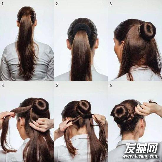 丸子头的扎法图解(2)