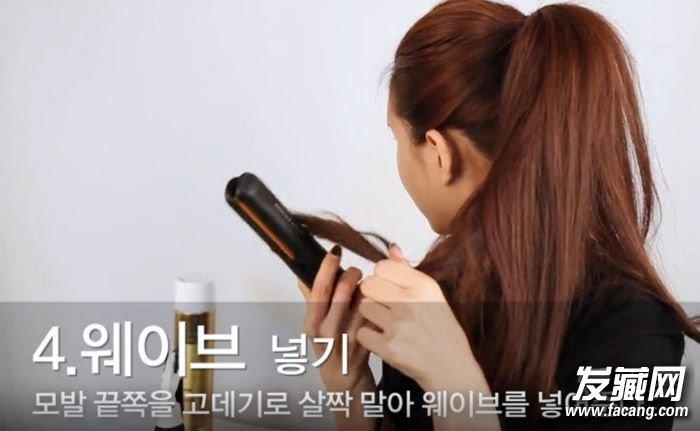 尾制造卷度,抑或是刮澎头发增加份量感.