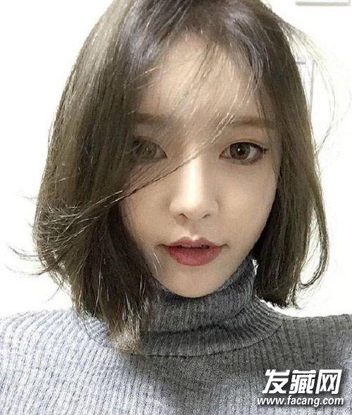 刘海薄一点更符合现在审美 搭配齐肩短发甜美清纯(2)