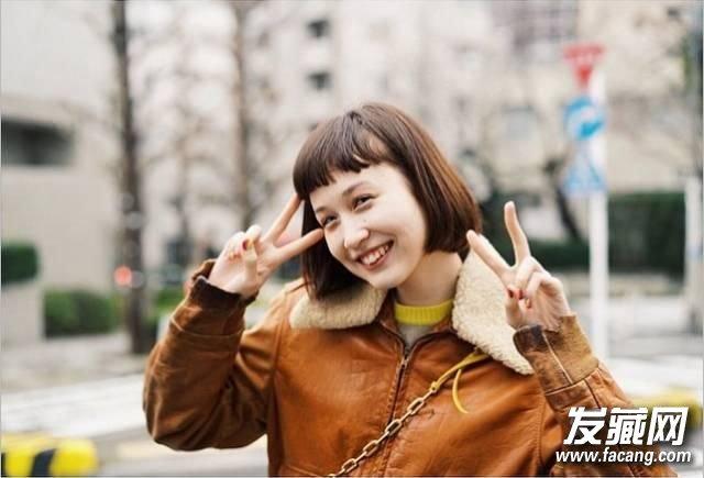 可爱的萌妹子头刘海 齐刘海学生头成本季新宠 4