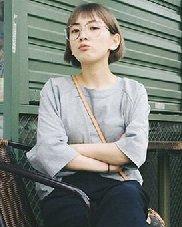 甜美的空气刘海 时尚感十足的齐耳短直发发型