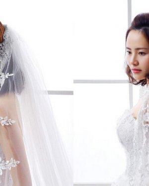 2016年中短发新娘盘发图片,尽显优雅大气
