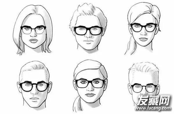 方形脸图片手绘