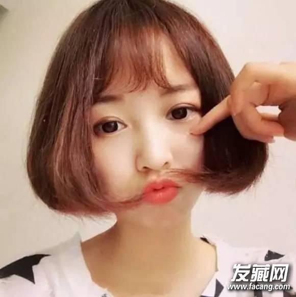苹果脸短发发型图片 短发苹果头_发型设计图片