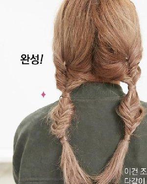 半扎式编发&两股马尾辫 简单DIY改造夏季造型 简单好学的扎发