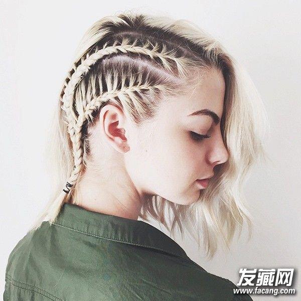 短发怎么扎简单好看 推荐7种清爽辫子发型(3)