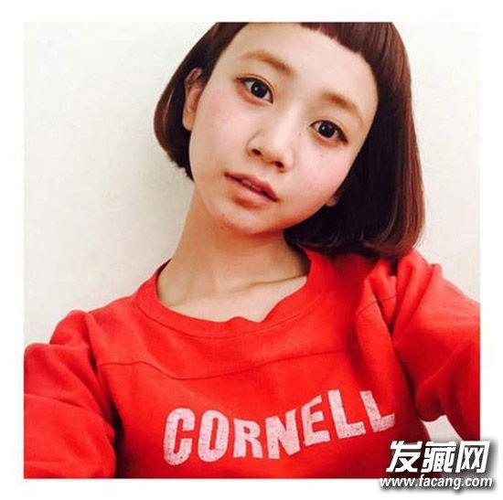 继空气刘海之后短发发型 清新爽朗的中分短发(6)图片
