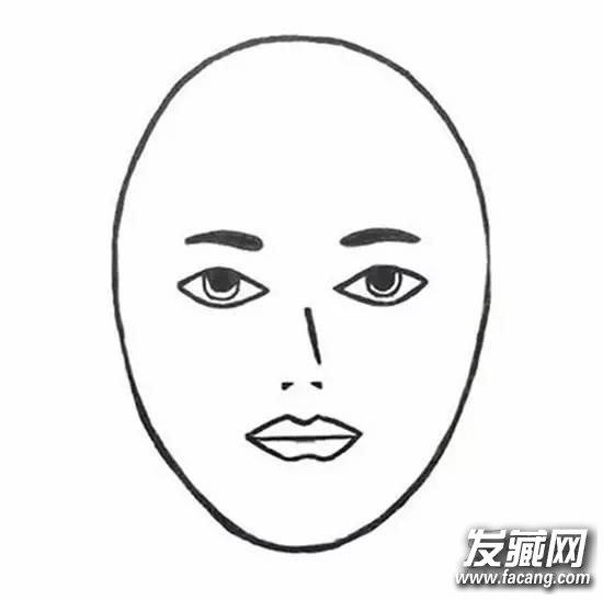 老人脸型简笔画