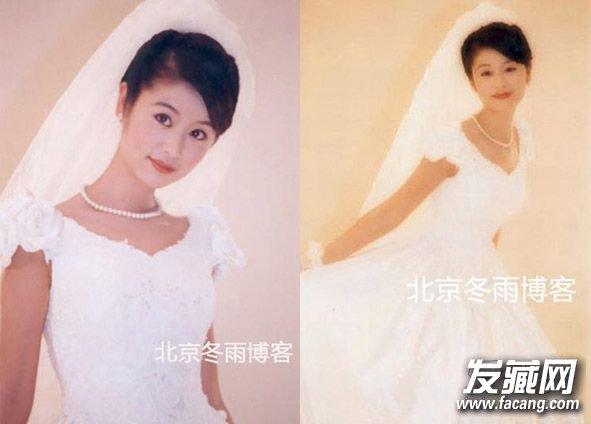 看林心如以前梳过的 新娘发型 ,很多都有刘海呢,长刘海不仅能修饰她图片